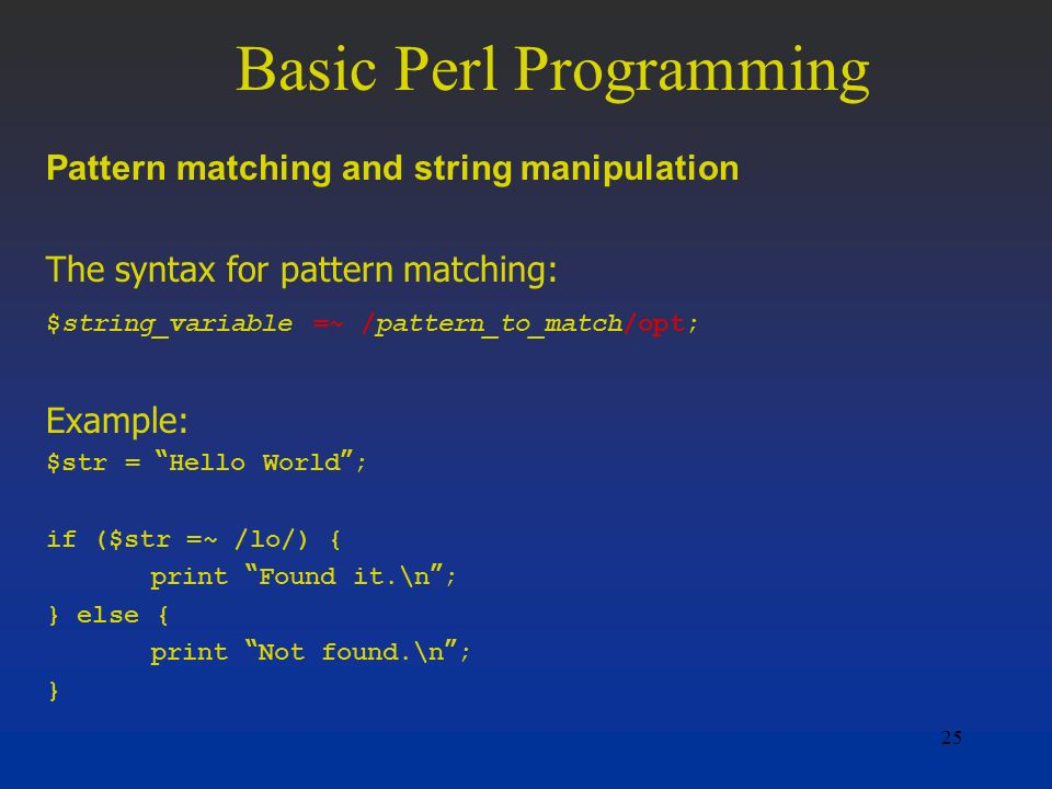 Advanced perl programming: the worlds most highly developed perl.