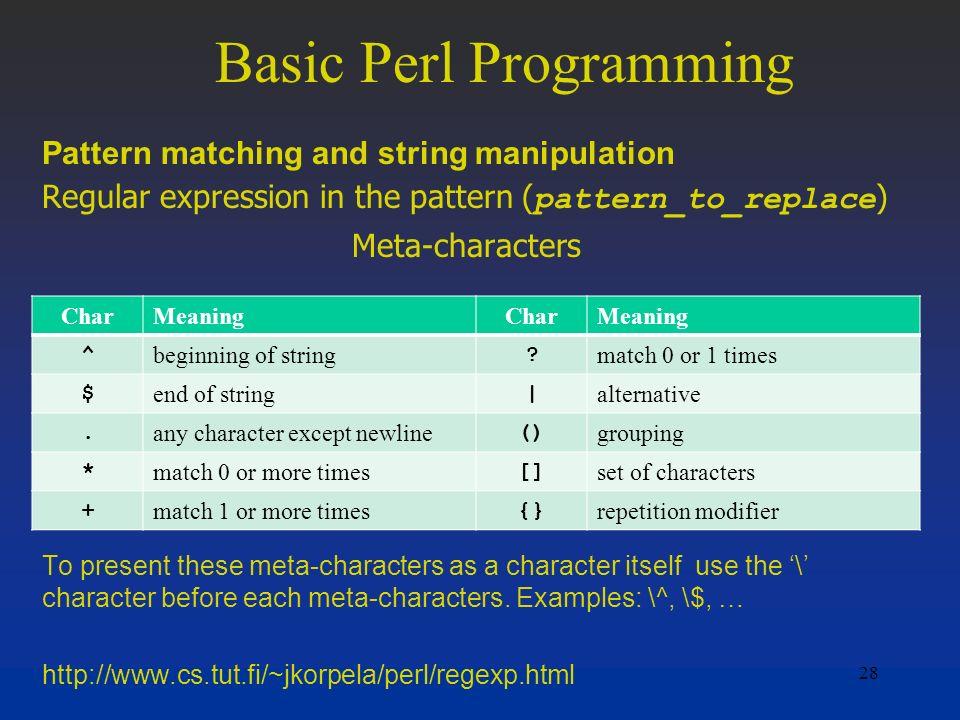 Basic Perl Programming - ppt download