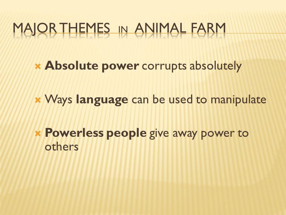major themes in animal farm