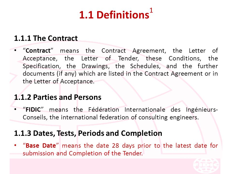 Fidic Conditions Of Contract For Construction Ppt Download