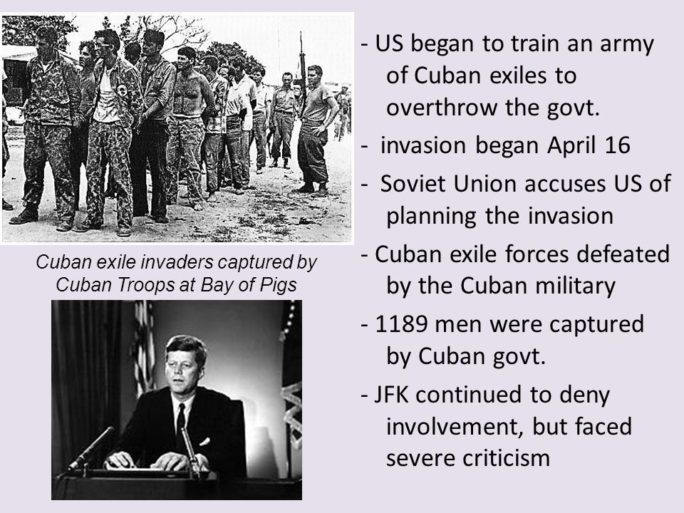 Cuban exile invaders captured by Cuban Troops at Bay of Pigs