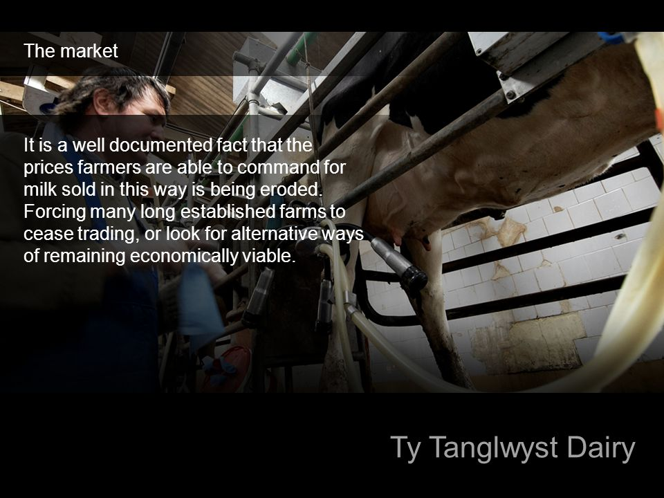 Ty Tanglwyst Dairy The market