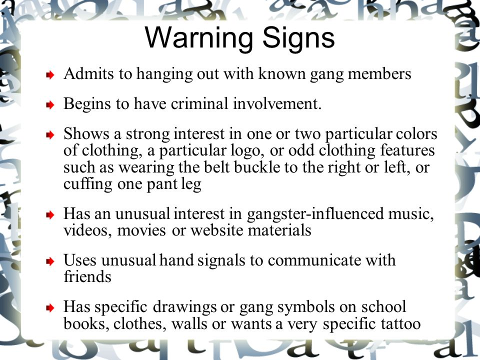 Pages From A Gang Knowledge Book Ppt Video Online Download