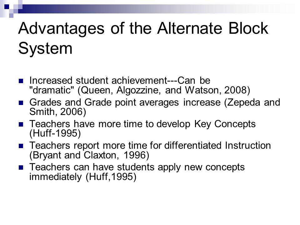 Alternate Block Schedule Research Instructional Guide Ppt Video