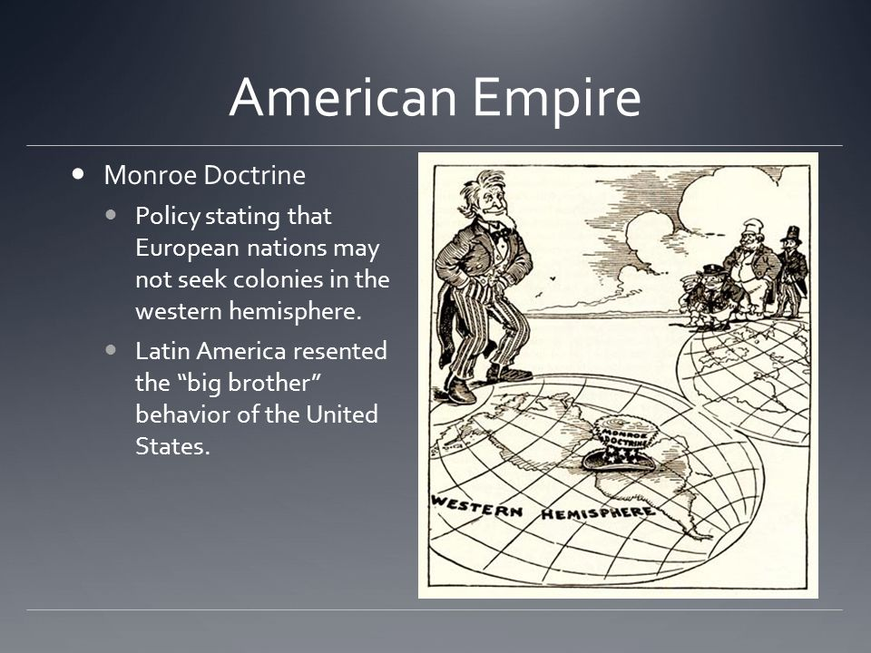 American Empire Monroe Doctrine