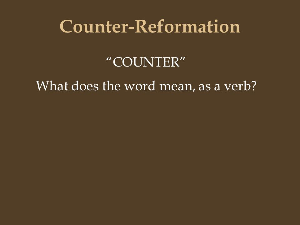 what does counter reformation mean