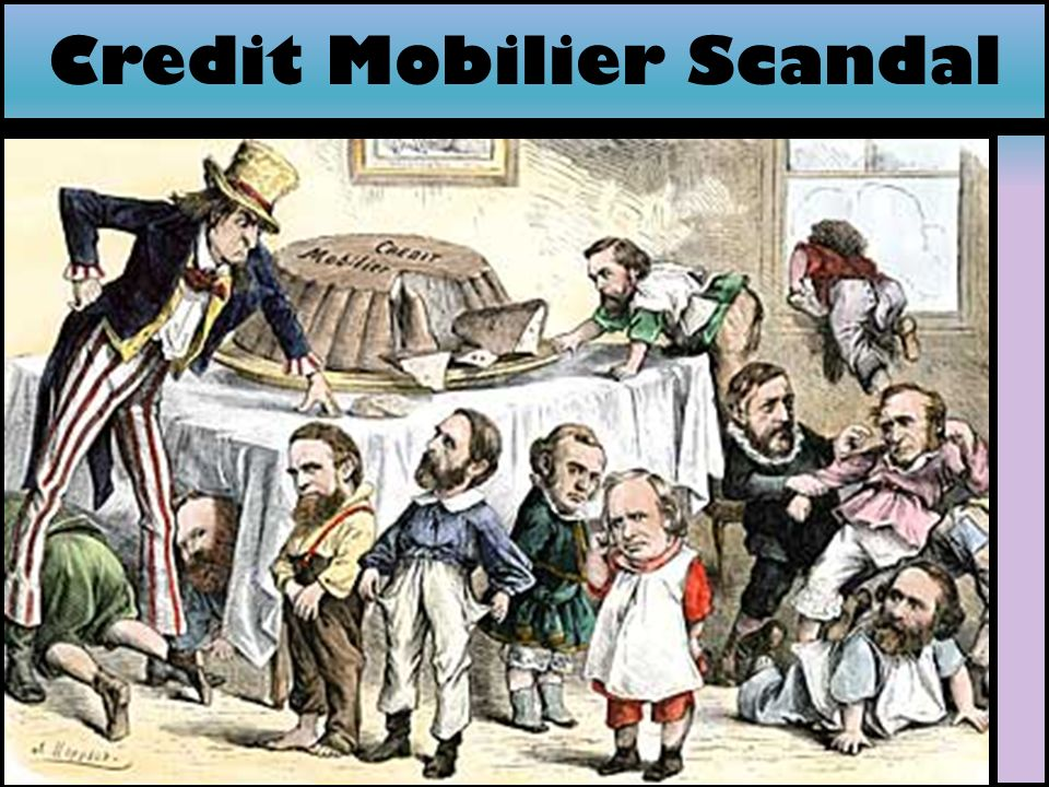 the credit mobilier scandal