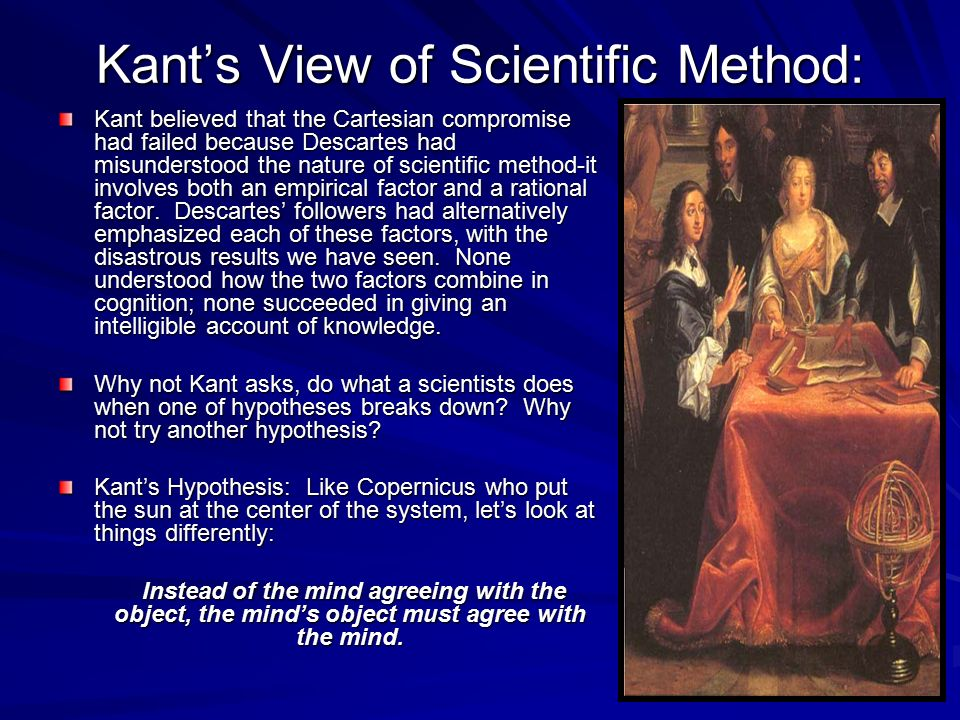 Kant's View of Scientific Method: