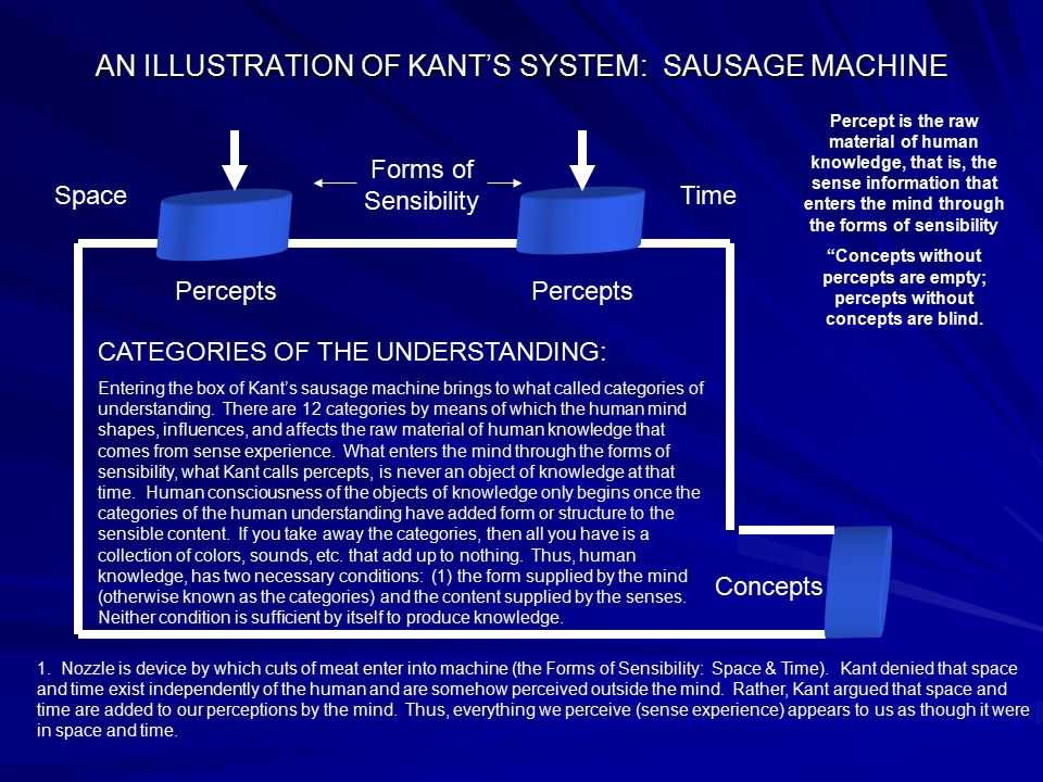 AN ILLUSTRATION OF KANT'S SYSTEM: SAUSAGE MACHINE