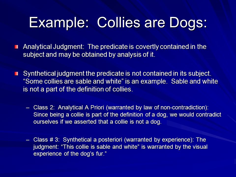 Example: Collies are Dogs: