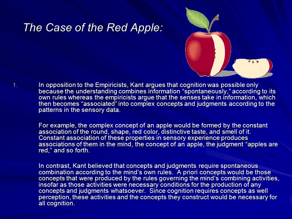 The Case of the Red Apple:
