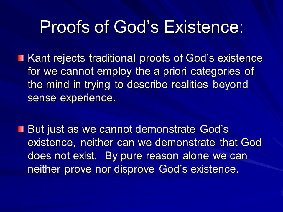 Proofs of God's Existence: