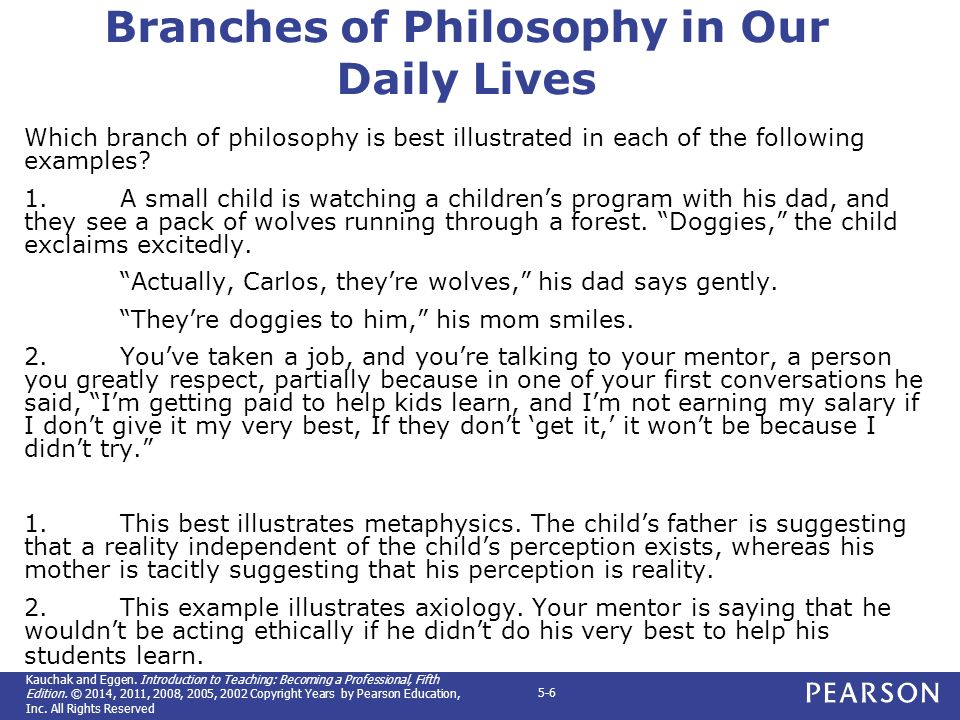 metaphysics epistemology axiology and logic in education