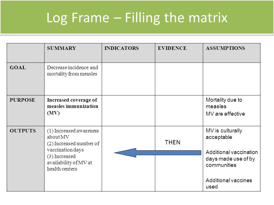 Developing the Logical Frame Work ……………. - ppt video online download