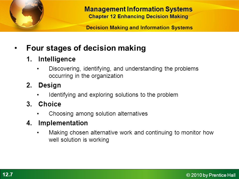 stages of decision making in management