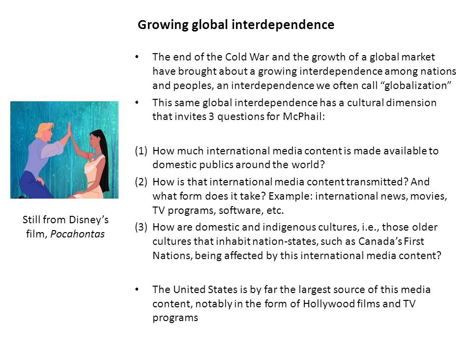 how does globalization lead to interdependence among nations