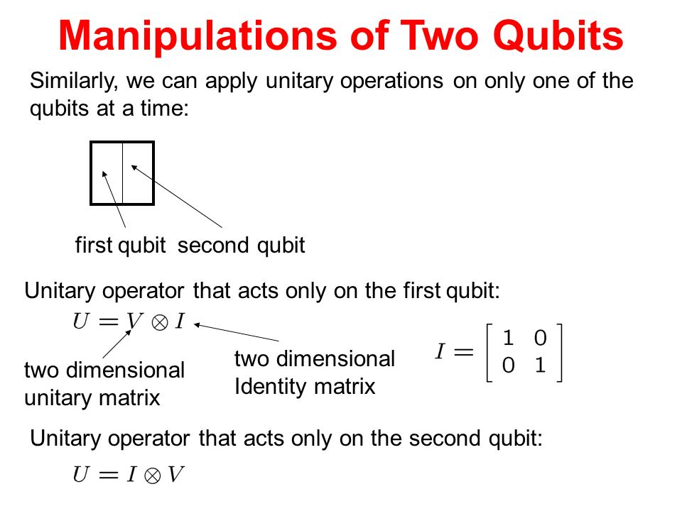 Manipulations of Two Qubits
