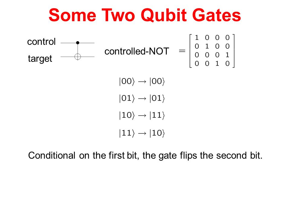 Some Two Qubit Gates control controlled-NOT target