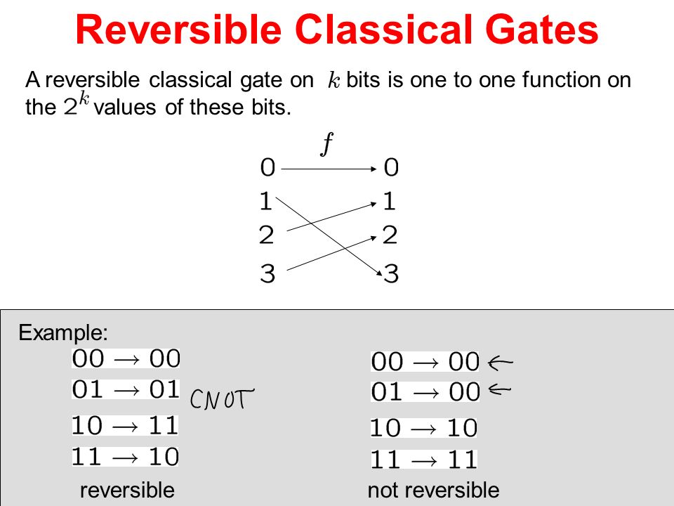 Reversible Classical Gates