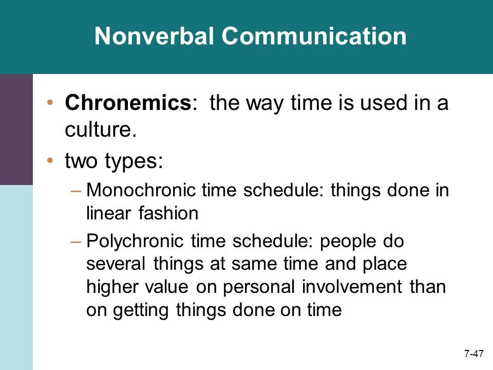 monochronic society