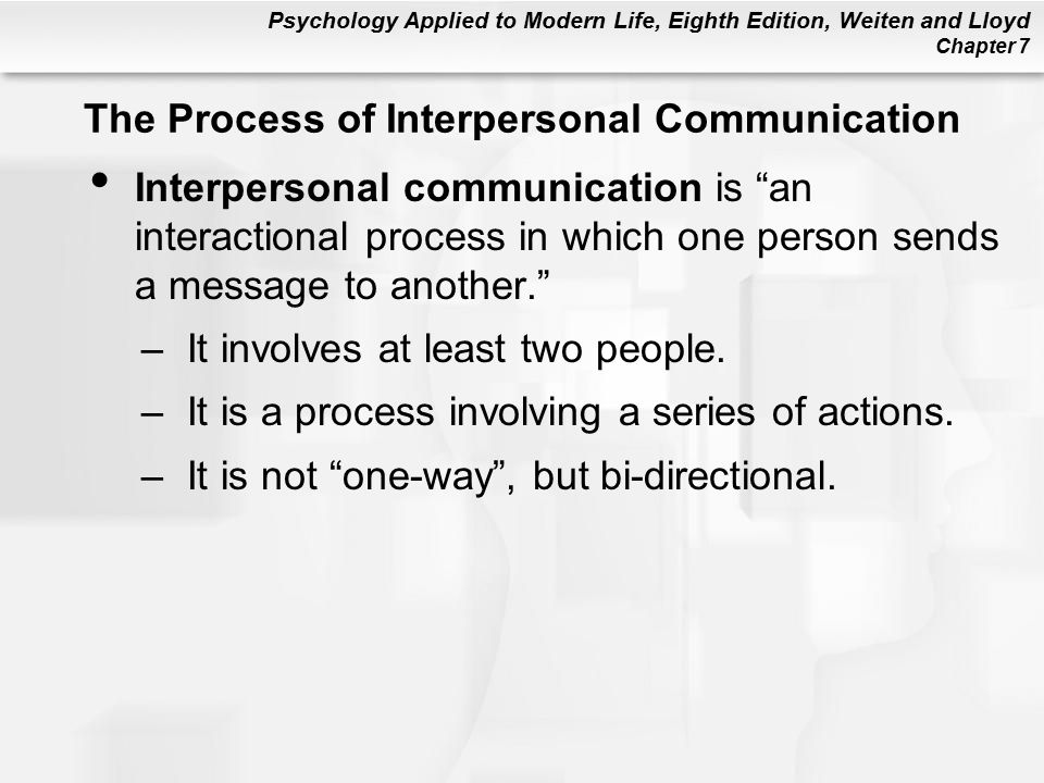 interpersonal communication involves