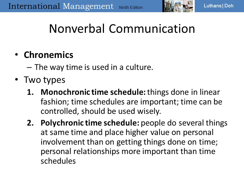 Cross Cultural Communication And Negotiation Ppt Video Online Download Chronemics is a term that describes what' time' has to do (or what role time plays) in 'communication'. cross cultural communication and
