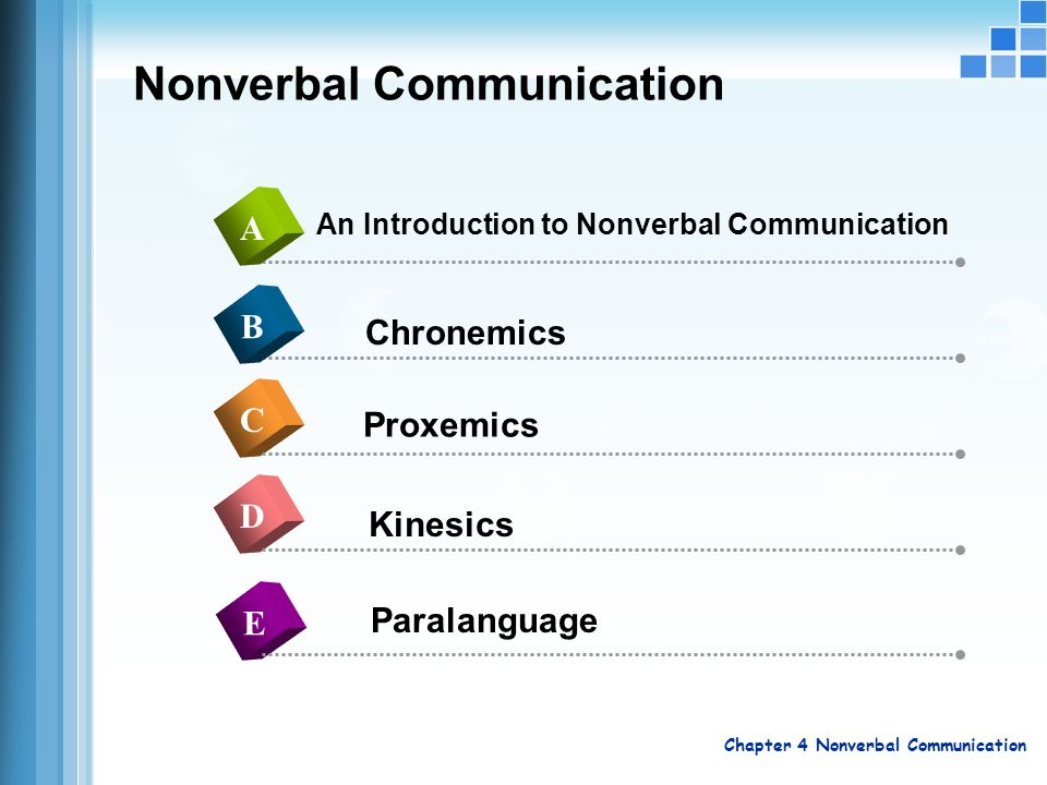 Chapter 4 Nonverbal Communication Ppt Video Online Download Three specific examples of how chronemics and power converge in the workplace waiting time talk time work time. chapter 4 nonverbal communication