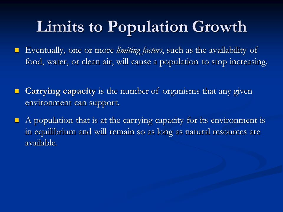 Limits to Population Growth