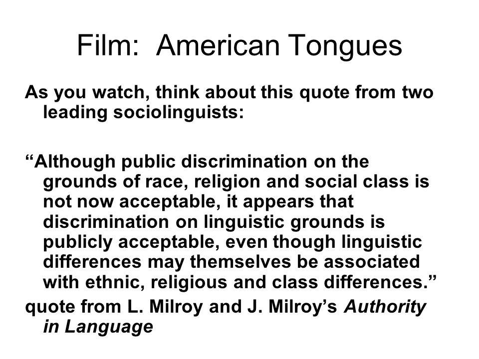 american tongues