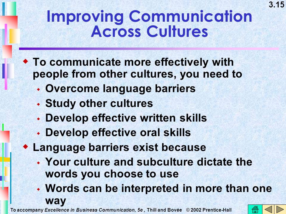 Improving Communication Across Cultures