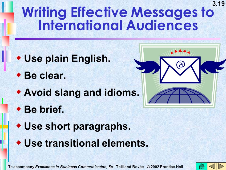 Writing Effective Messages to International Audiences