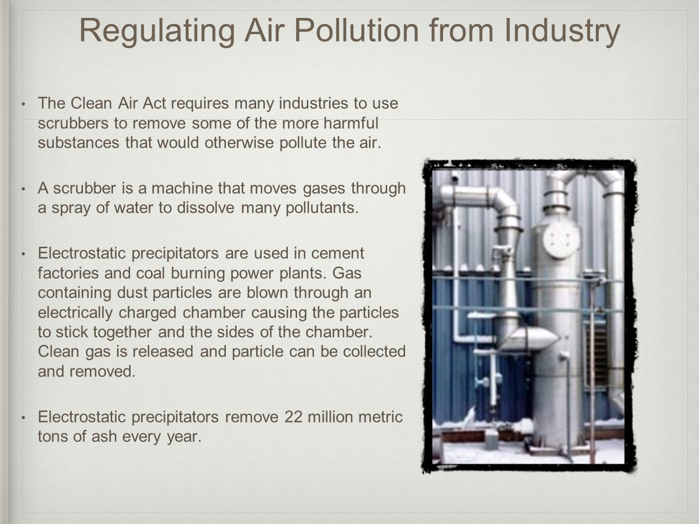 Regulating Air Pollution from Industry