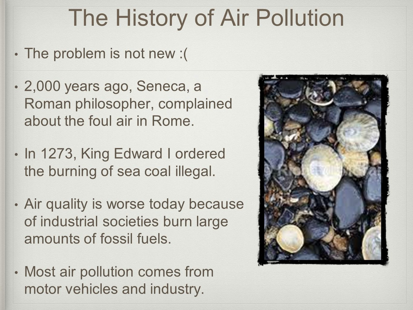 The History of Air Pollution