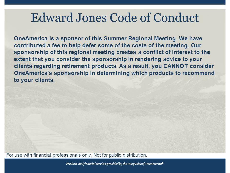 Edward Jones Code Of Conduct