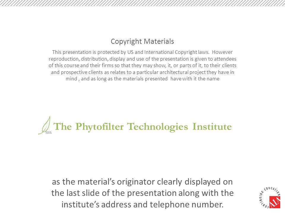 The Phytofilter Technologies Institute