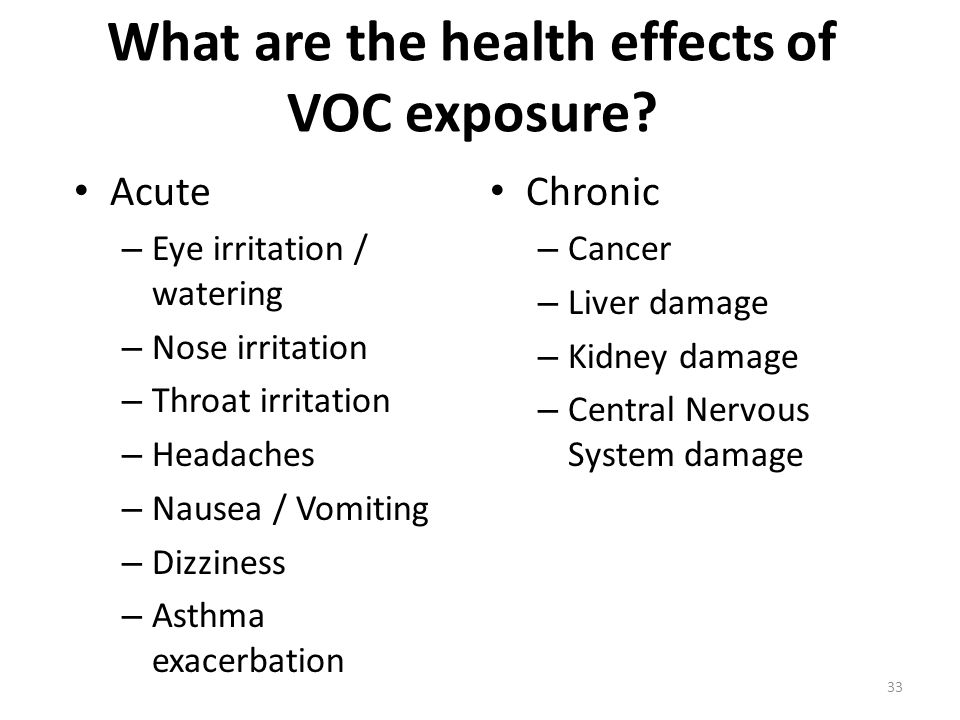 What are the health effects of VOC exposure