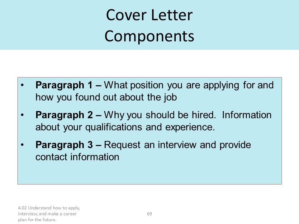 components of a cover letter study guide use with outline notes ppt 20932 | Cover Letter Components