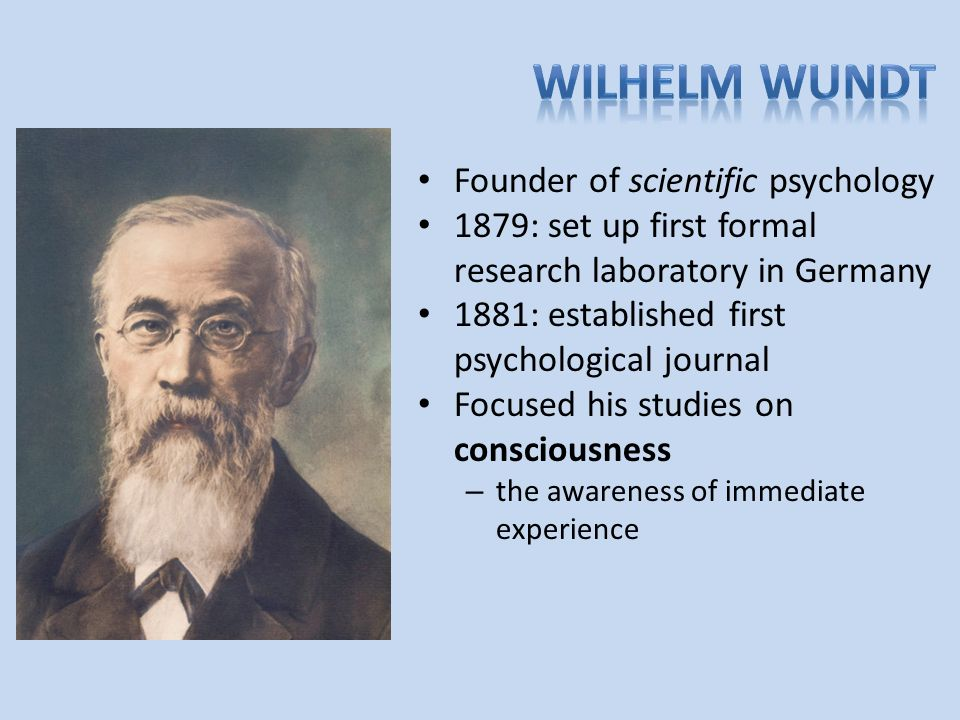 researchers in wilhelm wundts laboratory studied