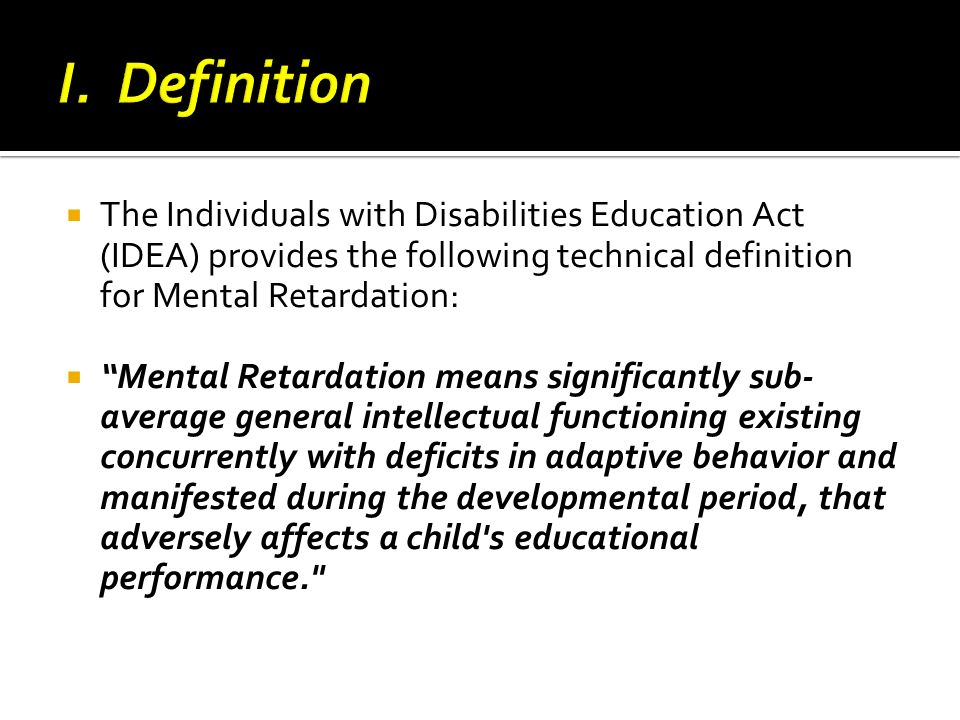 mental retardation definition