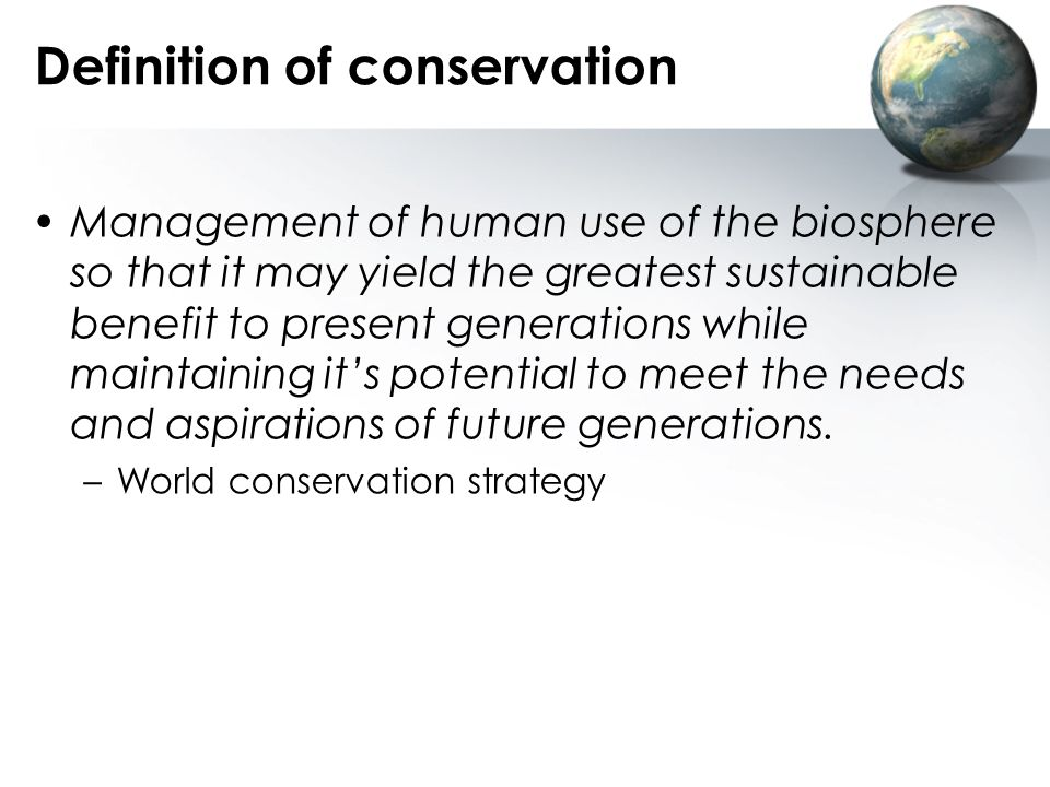 Definition of conservation