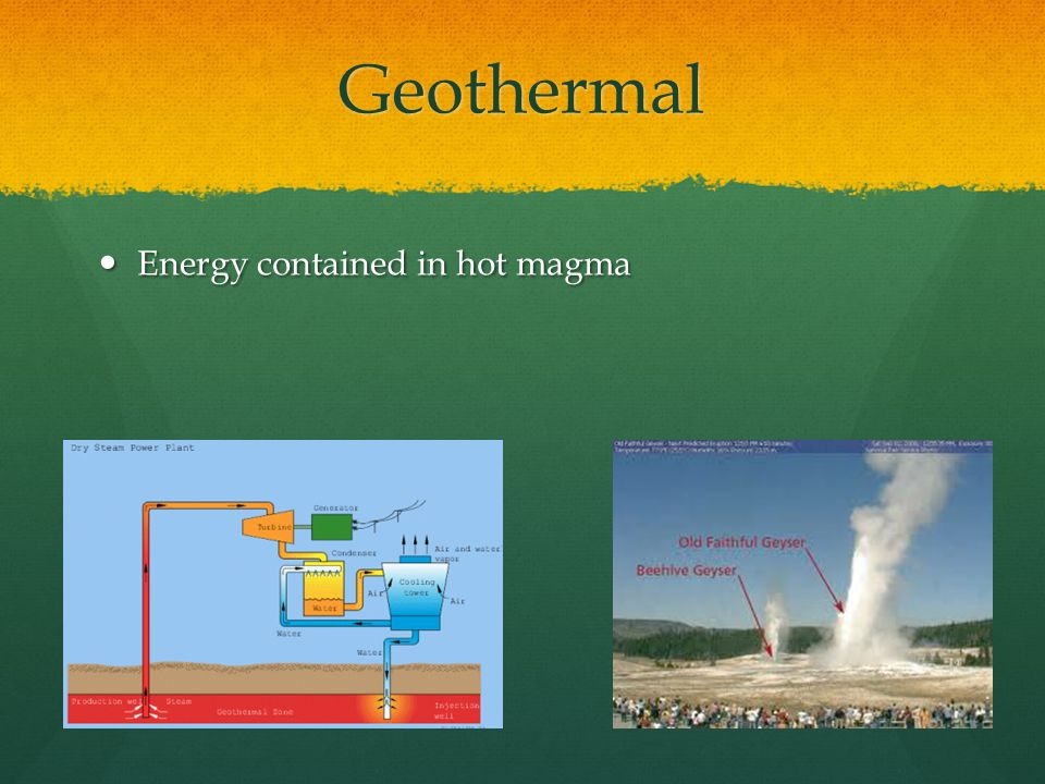 Geothermal Energy contained in hot magma