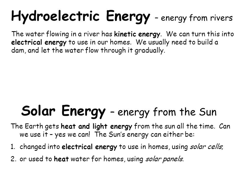 Solar Energy – energy from the Sun