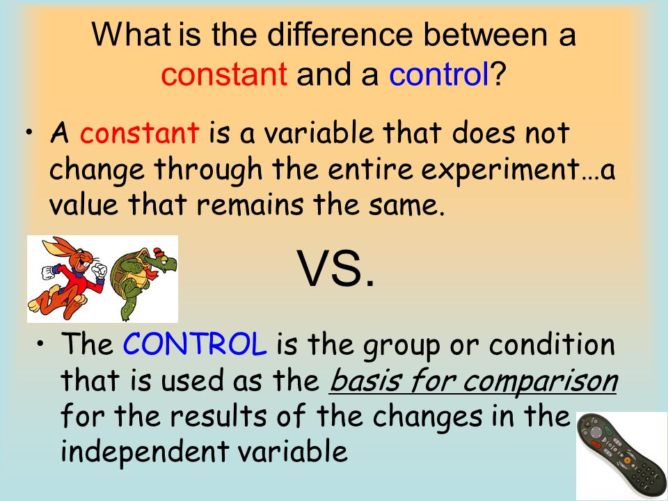 What is the difference between a constant and a control