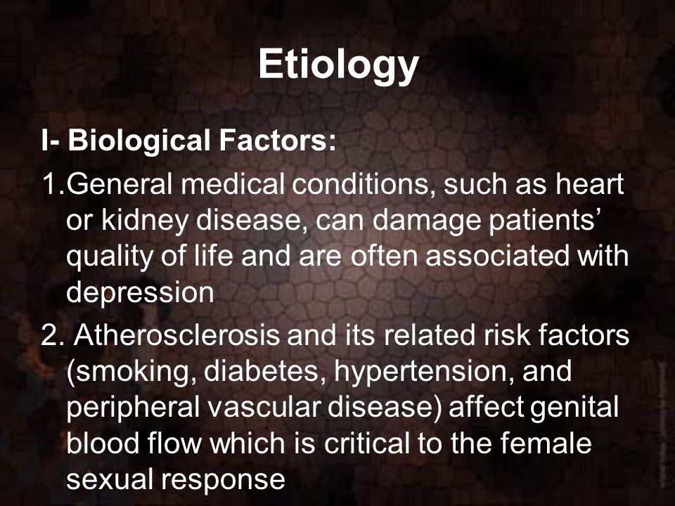 Female sexual medical conditions