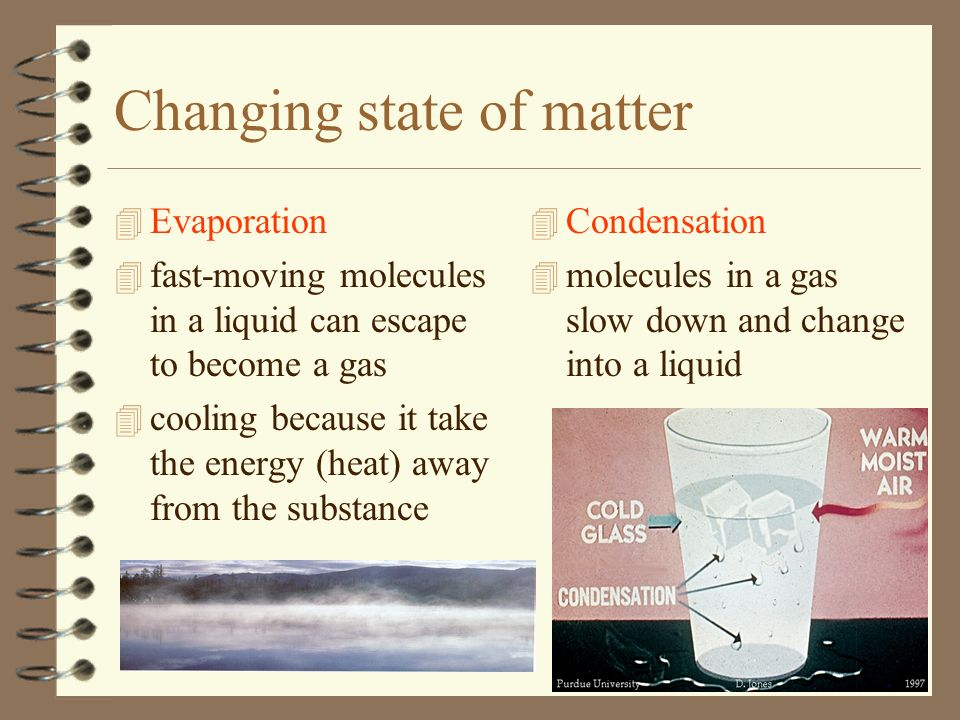 Changing state of matter