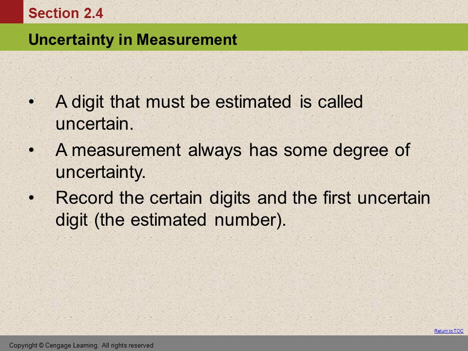 A digit that must be estimated is called uncertain.