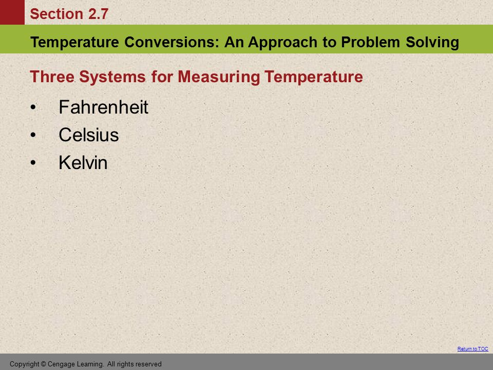 Three Systems for Measuring Temperature