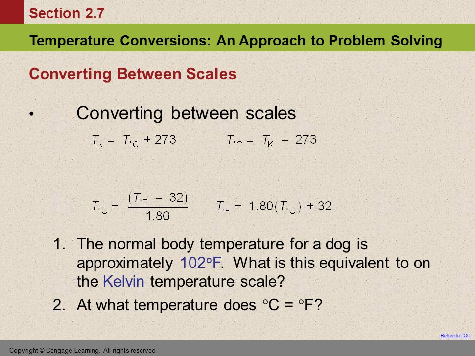 Converting Between Scales