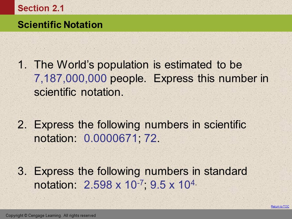 Express the following numbers in scientific notation: ; 72.