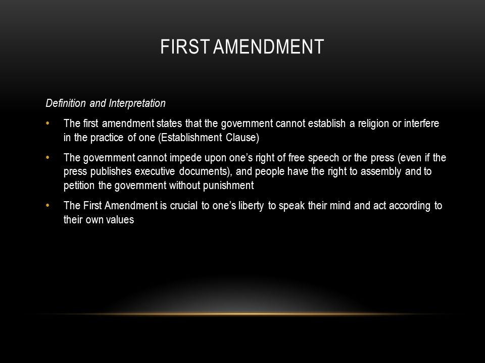 an analysis of the first amendment in culture vandals hide behind free speech by jeff durstewitz The first amendment to the constitution states: congress shall make no law respecting an establishment of religion, or prohibiting the free exercise thereof or abridging the freedom of speech, or of the press, or of the right of the people peaceably to assemble, and to petition the government.